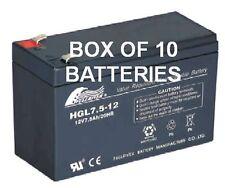 12V 7.5AH SLA Batteries x 10 (12 Volt 7AH)
