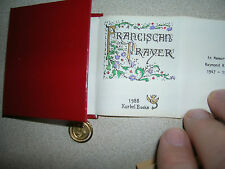 Franciscan Prayer Kurbel Miniature 1988 Calligraphy Color Illuminations INSPIRED