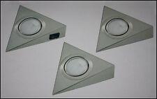♥ 3er Unterbauleuchten Komplettset inkl. Trafo 3xG4 je 20W Küchenunterbauleuchte