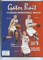 2002/03 Florida Basketball Yearbook MBX23