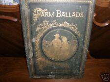 Farm Ballads by Will Carleton 1882 vintage/rare