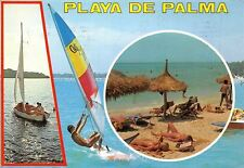 Spain Playa de Palma, Mallorca, boat, surf, animated strand beach plage