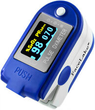 CMS-50D Plus Fingertip Pulse Oximeter, Blood Oxygen Monitor Blue FDA, US Seller