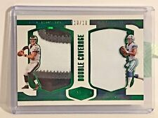 2016 Plates and Patches Double Coverage Patches Green Carson Wentz/Prescott/10