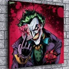 """24""""x24""""Joker and Harley Quinn Painting HD Canvas prints Home Decor art Picture"""