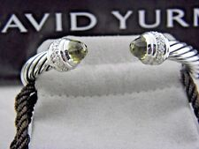 David Yurman Cable Clásico Pulsera con Prasiolita y Diamantes