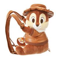 Tokyo Disney Sea Chip 'n Dale Plush Doll With hat  Shoulder Bag Backpack