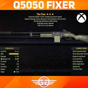 Quad 50vhc 50dr Fixer - Q5050 FIXER - Q/50/50 Fixer - Fallout76 [XBOX]