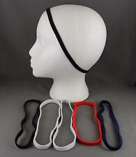 "Black Red Blue set pack 6 stretch elastic sport headband no metal 3/8"" hair band"