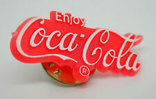 Coca-Cola Enjoy Logo Red Vintage Lapel Pin