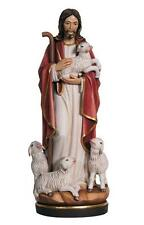 "12"" Jesus the Good Shepherd - Hand Carved and Painted by PEMA Woodcarvings"