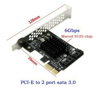 PCIe PCI Express to 6Gbps SATA 3.0 2-Port SATA III Expansion Card Board Adapter