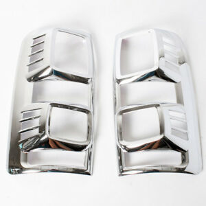 Chrome Cover Taillight Trims Fit Chevrolet Colorado S10 Pickup 2012