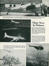 1951 Aviation Article Seibel S-4B Helicopter + Sikorsky H-19 + Douglas R4D-8