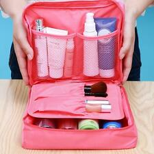 2 Layers Travel Trip Camping Gym Toiletry Bag Cosmetic Carry Case Organizer-Pink