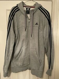 Adidas Performance Essentials Grey hoodie size Medium