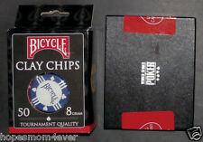 NIP 2011 WSOP Bicycle/KEM 2 Deck Playing Card Set & 50 ct. 8 g Clay Poker Chips