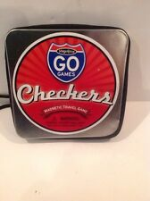MAGNIFICO GO GAMES Checkers - Magnetic Pieces, Traveling, Compact, Family Fun