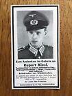 Sterbebild Funkmeister Infanterie Orel 1943 gefallenFotos - 15504