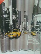Edler Textil Duschvorhang 180 x 200 cm 180x200cm New York Taxi