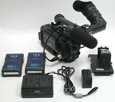 Lot of JVC GY-HD110U HD Camera Recorder A-E2HD100 w/ 2 Batteries AA-P30U Adapter