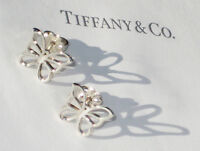 Tiffany & Co Sterling Silver Large Butterfly Stud Earrings