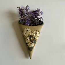 More details for vintage wall pocket posy holder ceramic country cottage retro