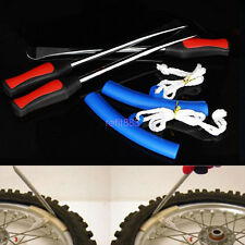 Motorcycle 3×Tire Lever Tool Spoon Tire Iron Changing+2×Wheel Blue Rim Protector