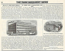 1897 MOON BUGGY CO. ST. LOUIS MO & ST. JOSEPH PUMP ST. JOSEPH MISSOURI ARTICLE