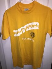 Vintage Xavier of New Orleans Yellow T Shirt Men's Large