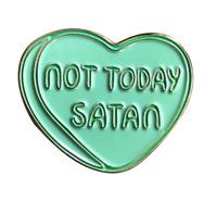 Not Today Satan Enamel Lapel Pin Badge/Brooch RuPaul's Drag Race Bianca Del Rio