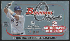 2006 Bowman Originals BOX Baseball Sealed Hobby AUTO 2 Signed Cards Per Pack