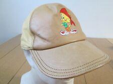 d136ace5 Vintage Looney Tunes Tweety Bird Tunesquad Space Jam Retro Leather Hat