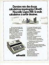 Publicité Advertising 018  1979  Olivetti   calculatrice imprimante  Logos 78 B