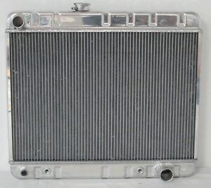 "1966 1967 Pontiac GTO Tempest Lemans Aluminum Radiator 17"" Core with Factory A/C"