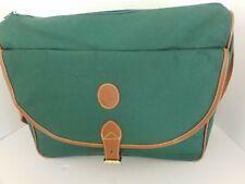 Vintage Polo Ralph Lauren Green Canvas & Brown Crossbody Messenger Shoulder Bag