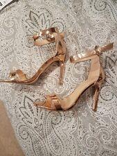 Rose gold heels size 5