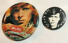 David Bowie 1978 Madison Square Garden Tour Button Pin, Wplj Radio Promo, +Bonus