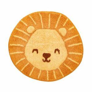 Lions Head Childrens Bedroom Rug   Nursery Playroom Animal Home Decoration Gift