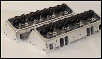 SBC CHEVY 400 406 NKB-200cc ALUMINUM HEADS STEAM HOLES 64cc STR. PLUG NKB-272-SH