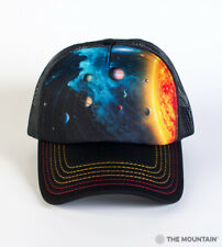The Mountain Solar System Adult Graphic Foam Trucker Hat, Black, Adjustable