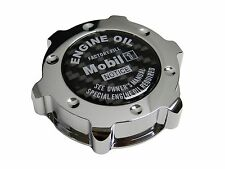 CHROME MOBIL 1 LS-STYLE JDM CNC BILLET ENGINE OIL FILLER CAP FOR HONDA ACURA CF