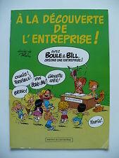 EO 1986 (très bel état) - Boule et Bill (pub) A la découverte de l'entreprise !