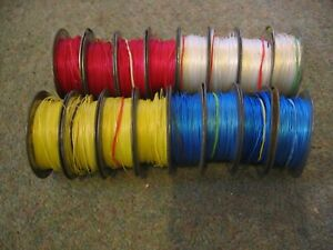 16 Reels of RS Components Equipment Miniature Solid Wire - 1 / 0.25 mm - Vintage