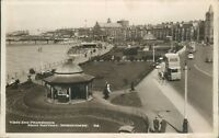 Postcard posted 1948 Lancashire Morecambe WE promenade from battery real photo