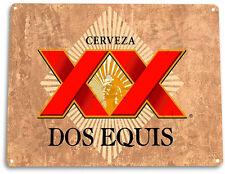 """TIN SIGN """"Dos Equis Beer"""" Metal Decor Wall Art Store Shop Bar Pub A332"""