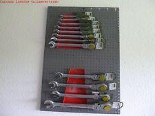 Werkstattwand 3 Lochwände Hakensatz plus Proxxon 9 tlg Ring- Ratschenschlüssel