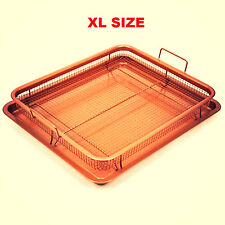 Copper Chef Crisper Tray Deluxe XL 18.5 X 13 inch Ceramic Nonstick AS SEEN ON TV