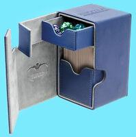 ULTIMATE GUARD FLIP n TRAY BLUE 100+ XENOSKIN DECK CASE Card Box Standard Size