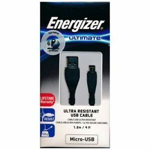 NEW Energizer ULTIMATE Ultra Resistant USB CABLE MICRO TYPE C LIGHTNING 1.2M